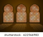 architectural arabic windows... | Shutterstock .eps vector #622566983