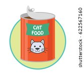 opened cat food can   pet toys... | Shutterstock .eps vector #622567160