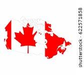 map of canada vector design...   Shutterstock .eps vector #622571858