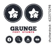 grunge post stamps. star icon....