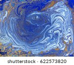 blue and golden liquid texture. ... | Shutterstock . vector #622573820