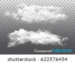 transparent clouds. vector. | Shutterstock .eps vector #622576454