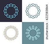 abstract monogram elegant logo... | Shutterstock .eps vector #622583864