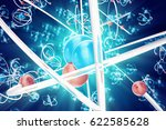 abstract atom background ...   Shutterstock . vector #622585628