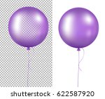 lilac balloons with gradient... | Shutterstock .eps vector #622587920