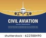 aircraft vector. banner  poster ...   Shutterstock .eps vector #622588490