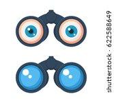 binoculars with eyes icon.... | Shutterstock .eps vector #622588649