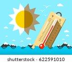 hot summer temperature.... | Shutterstock .eps vector #622591010
