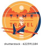 time to travel and summer... | Shutterstock .eps vector #622591184