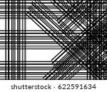 black and white abstract lines... | Shutterstock .eps vector #622591634
