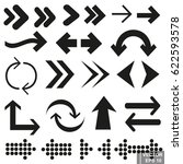 arrows. set. specify. icon for... | Shutterstock .eps vector #622593578