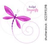 Vector Llustrace Dragonfly On ...