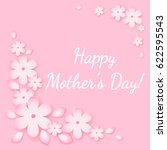 happy mothers day greeting card.... | Shutterstock .eps vector #622595543