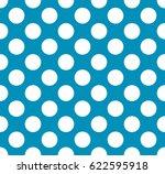 vector blue polka dot pattern | Shutterstock .eps vector #622595918