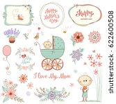 mother's day set with... | Shutterstock .eps vector #622600508