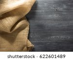 burlap hessian sacking on... | Shutterstock . vector #622601489