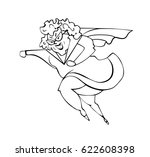 grandmother superwoman.happy... | Shutterstock .eps vector #622608398