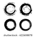 set of grunge circles.... | Shutterstock .eps vector #622608878