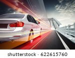 speeding car  driving on the...   Shutterstock . vector #622615760