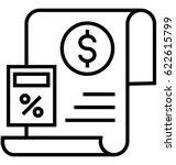 budget planning vector icon | Shutterstock .eps vector #622615799