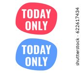 today only. badge icon vector... | Shutterstock .eps vector #622617434