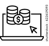 make money online vector icon    Shutterstock .eps vector #622619093