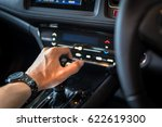 close up of hand on manual gear ... | Shutterstock . vector #622619300