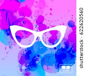 vector glasses icon. watercolor ... | Shutterstock .eps vector #622620560