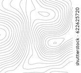 vector topographic map... | Shutterstock .eps vector #622625720