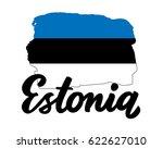 estonia hand drawn ink brush...