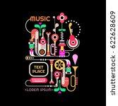 abstract music design vector... | Shutterstock .eps vector #622628609