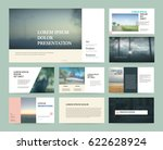 original presentation templates ... | Shutterstock .eps vector #622628924