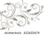 floral background with... | Shutterstock .eps vector #622632674