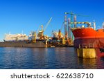 ships under repair in the... | Shutterstock . vector #622638710