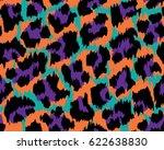 leopard pattern  vector ... | Shutterstock .eps vector #622638830