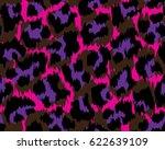 leopard pattern  vector ... | Shutterstock .eps vector #622639109