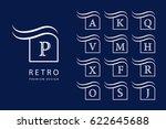abstract logo design. modern... | Shutterstock .eps vector #622645688