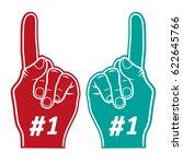 icon foam finger one  | Shutterstock .eps vector #622645766