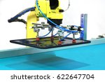 industrial robot with vacuum... | Shutterstock . vector #622647704