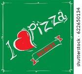 vintage pizza sign  background ... | Shutterstock .eps vector #622650134