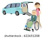 welfare vehicles and elderly... | Shutterstock .eps vector #622651208
