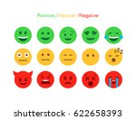 feedback emoticon flat design... | Shutterstock .eps vector #622658393