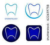 stomatology logos set with... | Shutterstock .eps vector #622659758