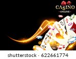 casino poker chips background.... | Shutterstock .eps vector #622661774