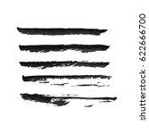 set of hand drawn grunge brush... | Shutterstock .eps vector #622666700