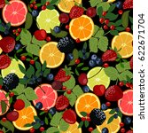 seamless pattern of berries and ...