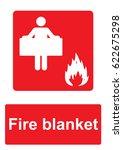 red fire equipment sign... | Shutterstock . vector #622675298