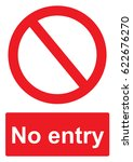 red prohibition sign isolated... | Shutterstock . vector #622676270