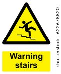 black and yellow warning sign... | Shutterstock . vector #622678820