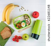 healthy food concept  lunch box ... | Shutterstock . vector #622681148